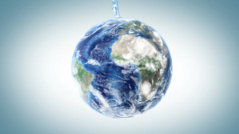 water fills the Earth Stock Video Footage