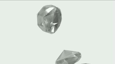 falling large diamonds & gems Stock Video Footage