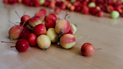 pile apples Stock Video Footage