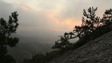 sunrise in the mountains. Noviy Svet, Crimea, Ukraine Footage