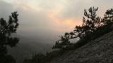 sunrise in the mountains. Noviy Svet, Crimea, Ukraine Footage