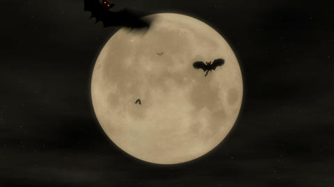 Bat Attack 1 - Halloween Party Video Background Loop Stock Video Footage
