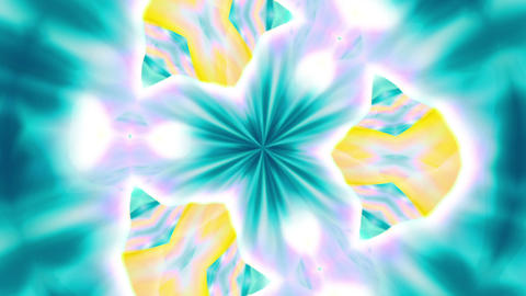 Kaleidoscope 1 - Ornamental Kaleidoscopic Video... Stock Video Footage