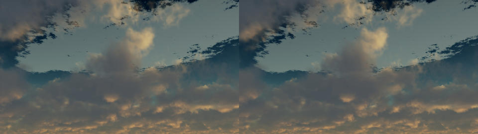 Moving Clouds Stereo 3D Stock Video Footage
