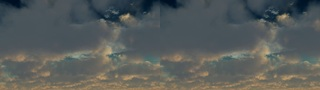 Moving Clouds Stereo 3D stock footage