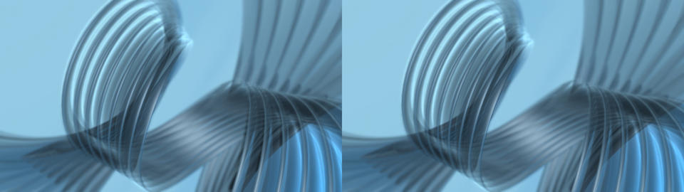Blue Spiral background - Stereo 3D Animation