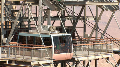 cableway on Mount Masada 5 Stock Video Footage