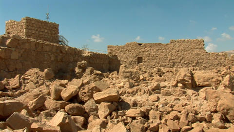 stones of Masada Stock Video Footage