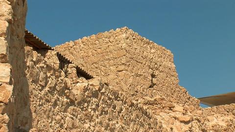 masada walls c Stock Video Footage