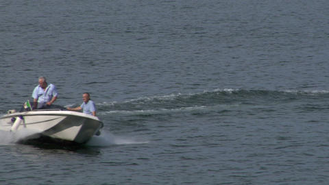motorboat 22 e Stock Video Footage