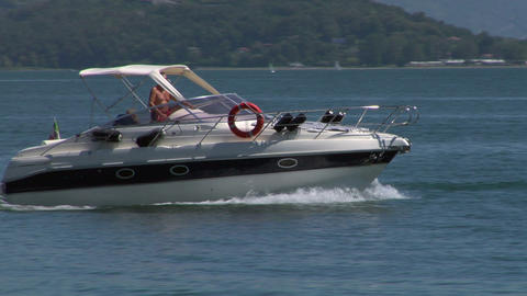 motorboat 24 e Stock Video Footage