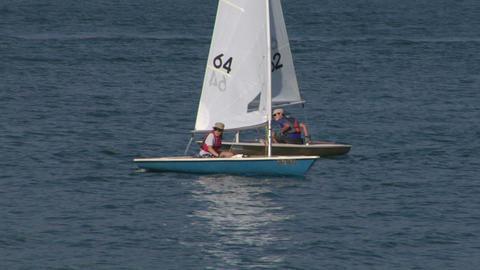 sailing school 02 Stock Video Footage
