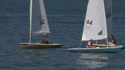 sailing school 02 Stock Video Footage