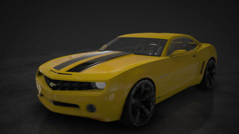 Chevrolet Camaro in 360 - Motion Background Loop, Stock Animation