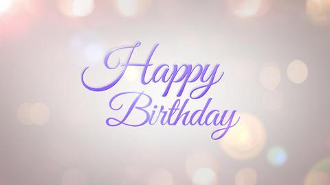 happy birthday glitter2 CG動画