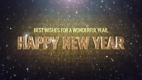 Happy New Year Glitter2 stock footage
