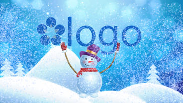 Snowman Brings Logo After Effects Project