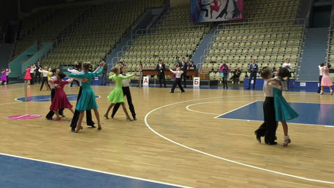 Children compete in sport dancing Live Action