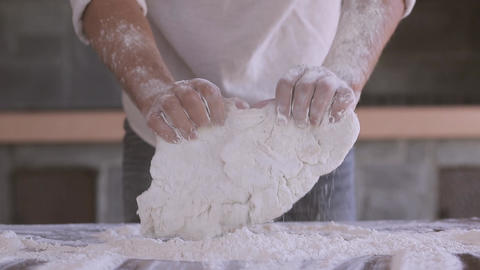 The dough man hands Footage