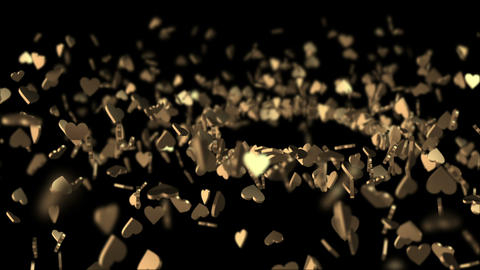 Spiral flat-goldenheart blackBG Animation
