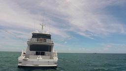Fishing Boat In The Ocean Footage