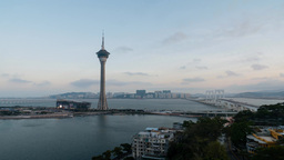 4K timelapse of Macau Tower Footage