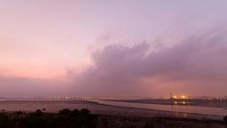 4K Timelapse Sun Rise Of Wugu Wetland stock footage