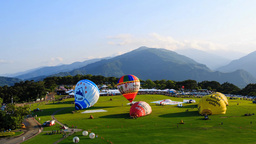 4K Timelapse Of Hot Air Balloon Festival, Taitung stock footage