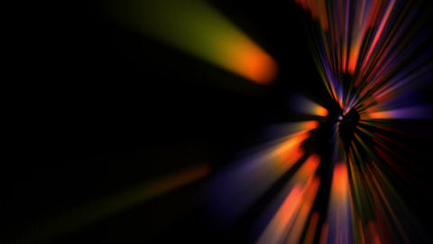 Colorful Rainbow Explosion Of Light Rays Shiny Dance Background Animation