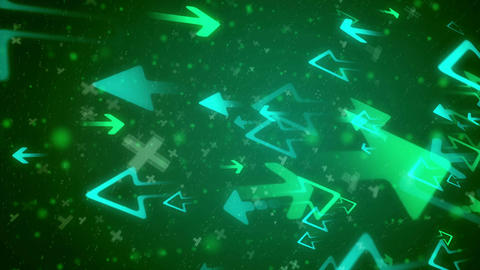 Abstract Business Arrow technology background Animation