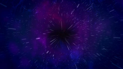 Black hole over star field in outer space Animation