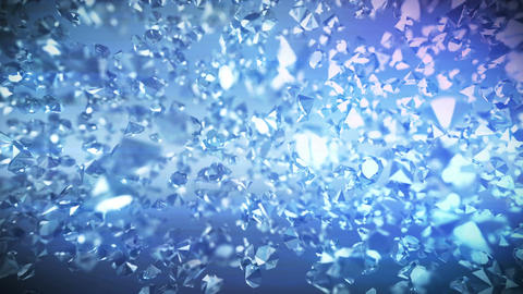 Glittering Diamonds With Light Rays Animation