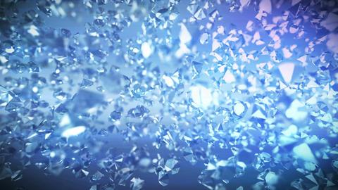 Glittering Diamonds With Light Rays Animation