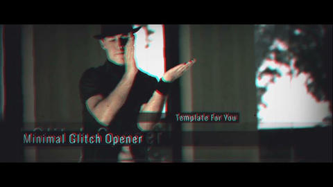 Minimal Glitch Opener After Effects Template