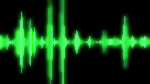 Shining Equalizer Audio Spectrum Green Dinamic Waves Background Animation