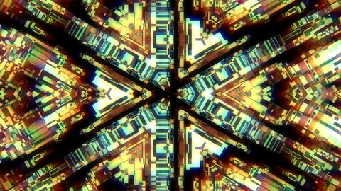 Geometrical Technology Kaleidoscope Fractal Abstract... Stock Video Footage