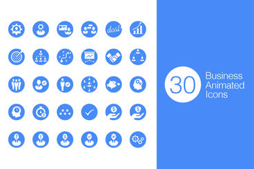 30 Business Animated Icon After Effects Template