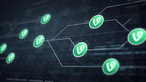 Vine Icon Line Connection of Circuit Board Loop Animation…, Stock Animation