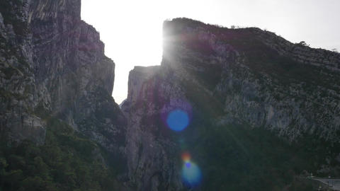 The entrance hallway Samson, filmed by drone, the Verdon Gorges, Rougon, France Footage