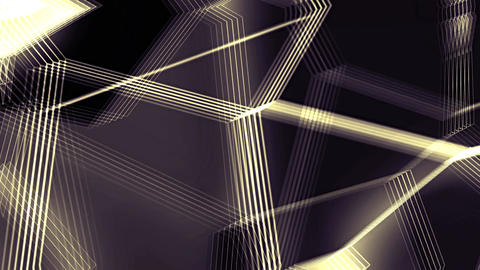 Random Changing Geometrical Graphics Golden Shapes Lines Motion Animation Animation