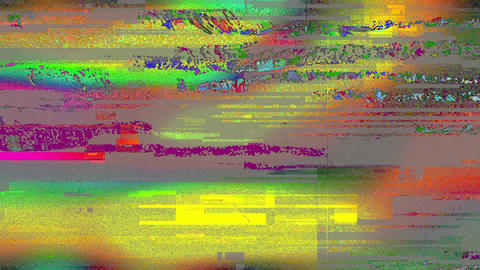 Colored Noise Glitch Grunge Grain Video Damage Animation