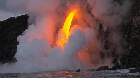 Lava Flows Into The Ocean Flows Into The Ocean Live Action