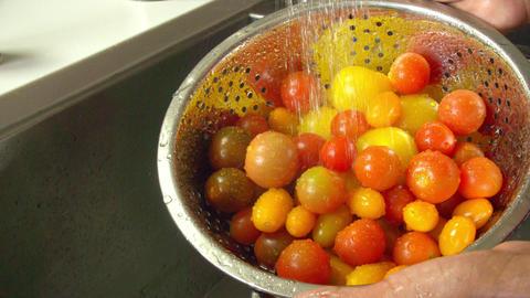 Washing Tomatoes Slow Motion