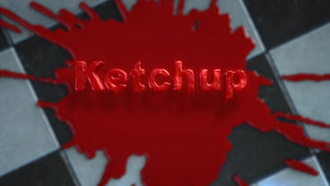 After Effects Template: Ketchup, Fluid Splat and Dripping Text Logo Stinger Plantilla de After Effects