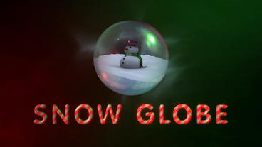Snow Globe - Christmas Snowman in a Glass Ball Logo Stinger Plantilla de After Effects