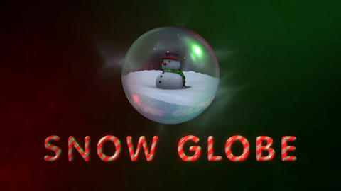 Snow Globe - Christmas Snowman in a Glass Ball Logo Stinger After Effects Template