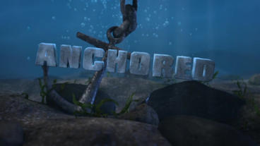 Anchored - Underwater Anchor LogoStinger Plantilla de After Effects
