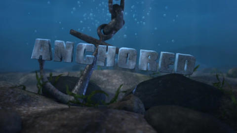 Anchored - Underwater Anchor LogoStinger After Effects Template