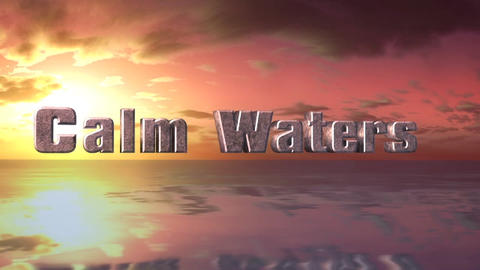 Calm Waters - Crystal Clear Ocean ReflectionLogo Reveal After Effects Template