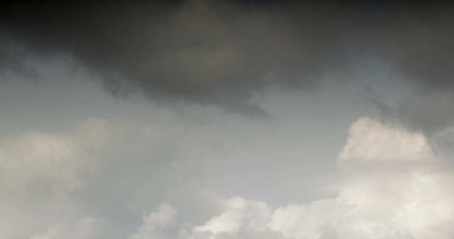 Cloudy clouds appear in the sky. timelapse video Footage